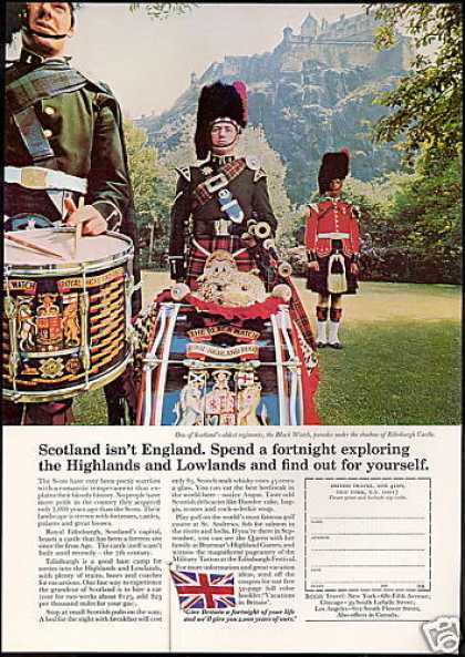 Scotland Edinburgh Black Watch Regiment Travel (1969)