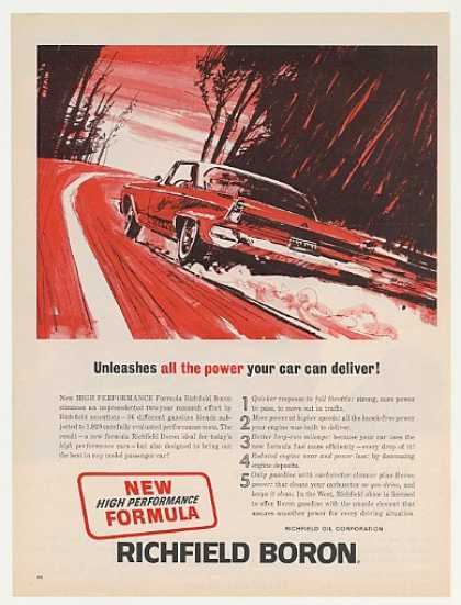 Richfield Boron Gasoline Unleashes Power Car (1964)