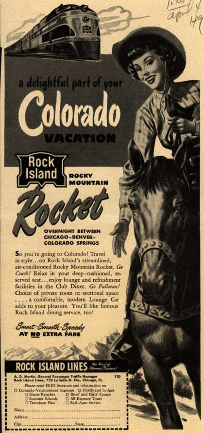 Rock Island Line's Colorado – A delightful part of your Colorado Vacation (1949)