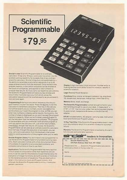 Sinclair Scientific Programmable Calculator (1975)
