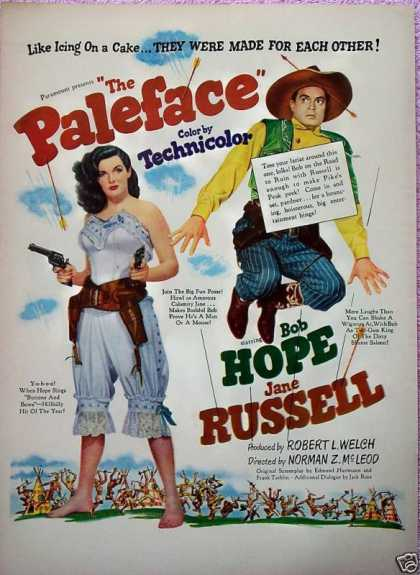 The Paleface Bob Hope Jane Russell Robert Welch (1948)