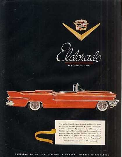 Cadillac Eldorado Convertible Car (1955)