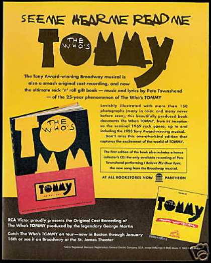 The Who's Tommy Musical 1st Ed Book Promo (1993)