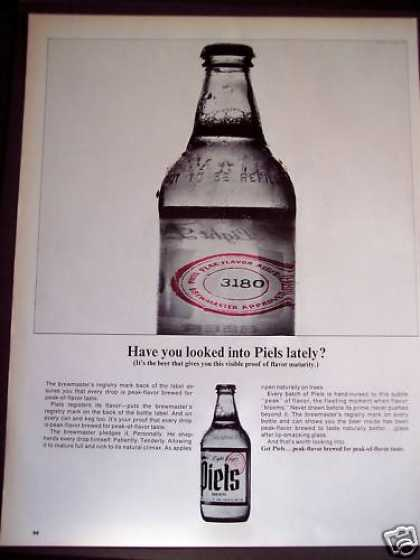 Piels Beer Peak-of-flavor Taste (1963)