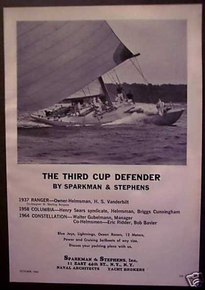 Cup Races the Contellation Boats Sailing (1964)
