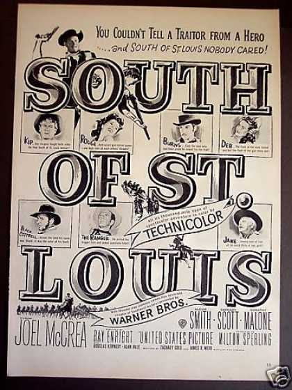 Joel Mccrea In South of St Louis Movie Promo (1949)