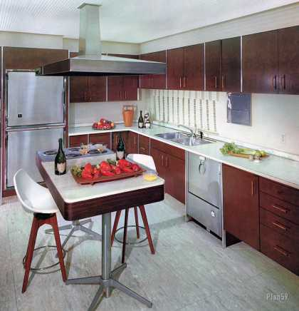 Mutschler Series 700 storage system by Paul McCobb 			Henry End residence, Miami (1961)