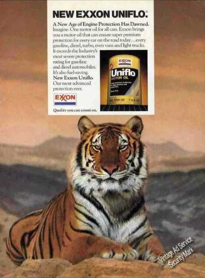 Beautiful Tiger Photo Exxon Uniflo (1984)
