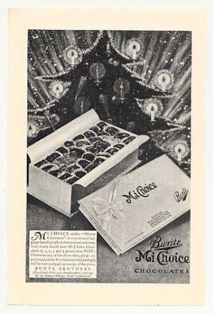 Bunte Mi Choice Chocolates Christmas Tree art (1930)