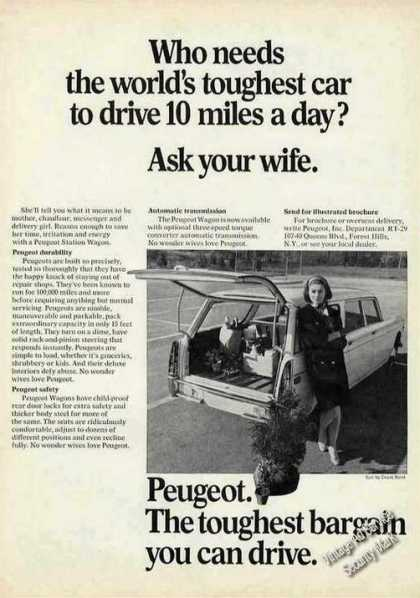 "Peugeot ""World's Toughest-ask Your Wife"" (1968)"
