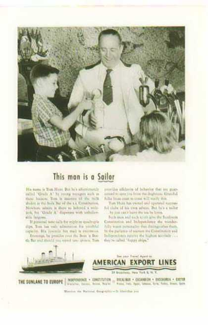 American Export Lines Cruise -Independence, Constitution – Sold (1954)