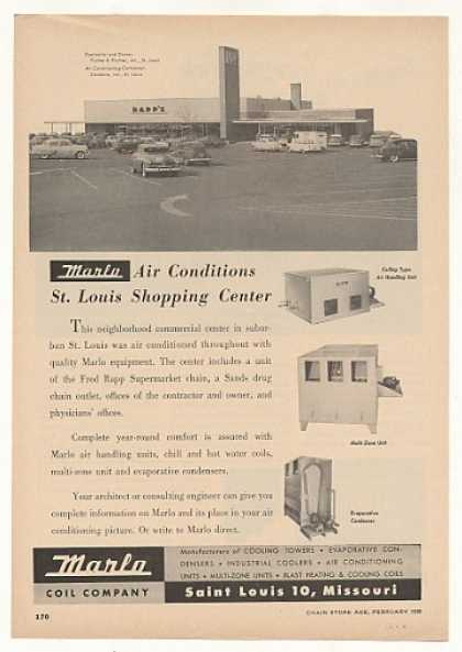 Rapp's Supermarket St Louis Marlo Air Condition (1955)