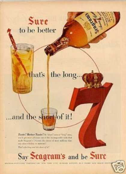 Seagram's 7 Crown Whiskey (1954)