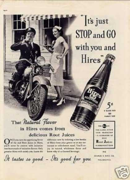 "Hires Root Beer Ad ""It's Just Stop and Go... (1937)"