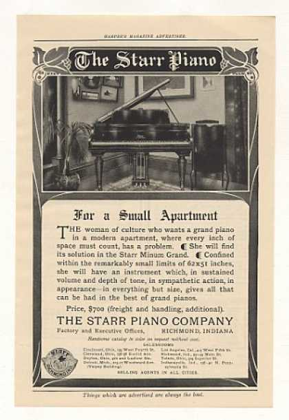 Starr Minum Grand Piano for Small Apartment (1908)