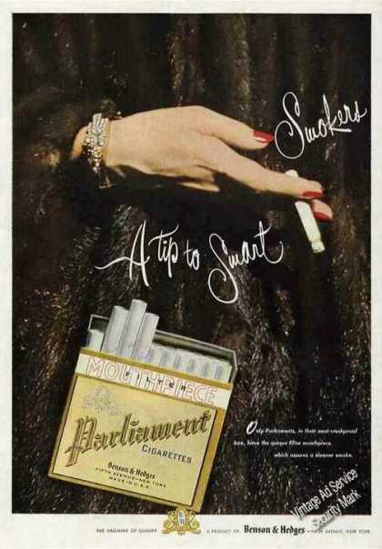 "Parliament Cigarettes ""A Tip To Smart Smokers"" (1950)"