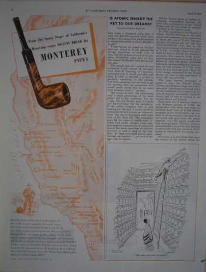 Monterey Tobacco Pipes Mission Briar (1946)