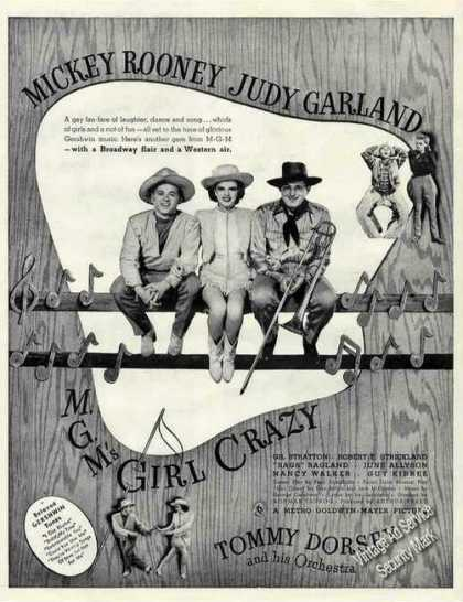 "Mickey Rooney & Judy Garland ""Girl Crazy"" Movie (1943)"