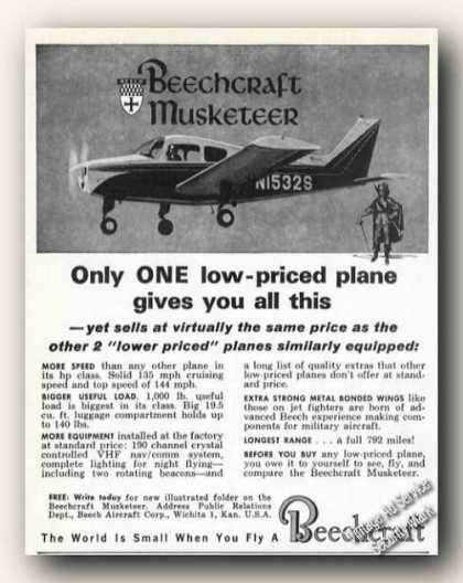 Beechcraft Musketeer Photo Wichita Ks Plane (1963)