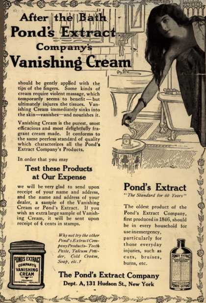 Pond's Extract Co.'s Pond's Vanishing Cream – After the Bath (1910)