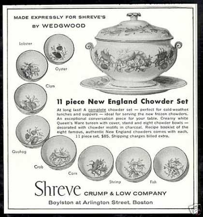 Shreve Wedgwood Chowder Bowl Tureen Photo (1958)