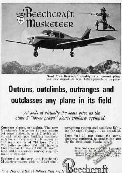 Beechcraft Musketeer Outrun/outrange (1963)