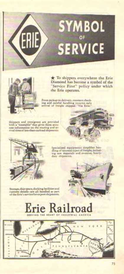 Erie Railroad – Symbol of Service (1947)