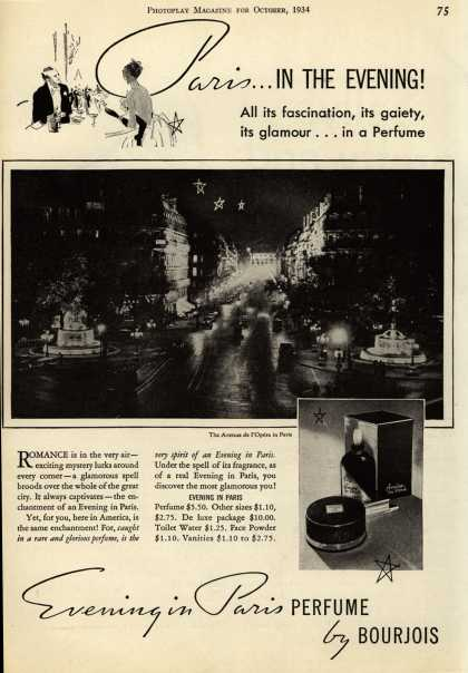 Bourjoi's Evening in Paris Cosmetics – Paris...In The Evening (1934)