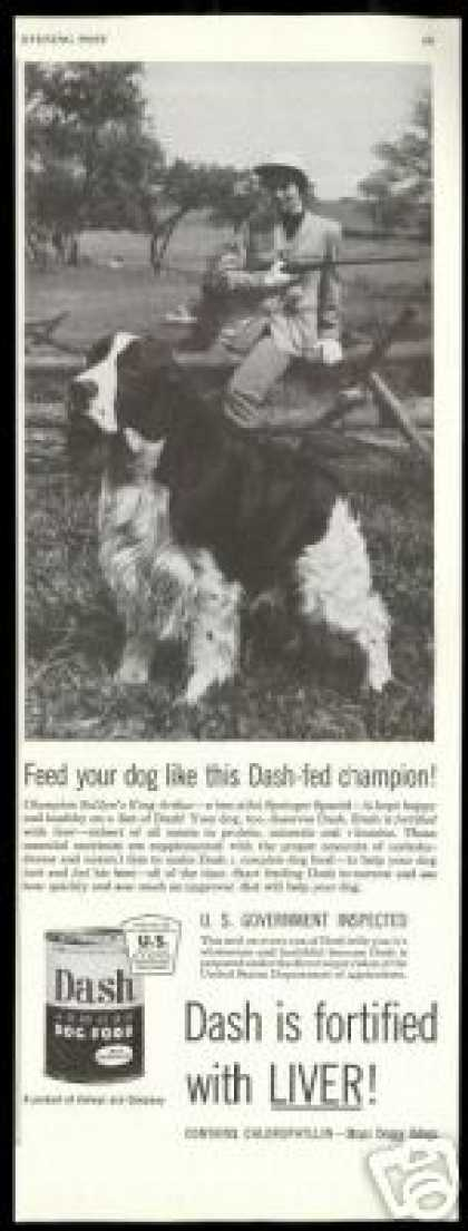 English Springer Spaniel Dash Dog Food Vintage (1954)