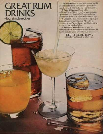 Puerto Rican Rum Drinks (1969)