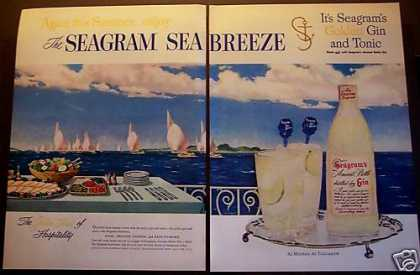 Seagram's Gin & Tonic Seabreeze Sail Boats (1953)