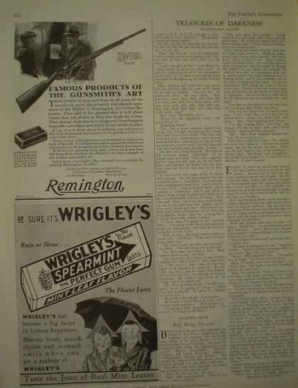 Remington Arms Co Rifle AND Wrigley's Spearmint Gum (1929)
