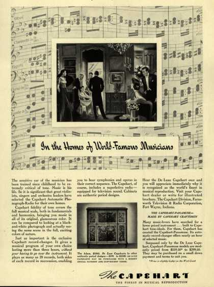 Capehart Corporation's Radio – In the homes of World-Famous Musicians (1940)