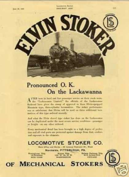 Locomotive Stoker Ad Lackawanna Rr 4-8-2 (1925)