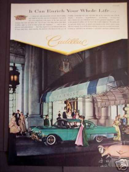 Cadillac at the Fairmont Classic Car (1957)