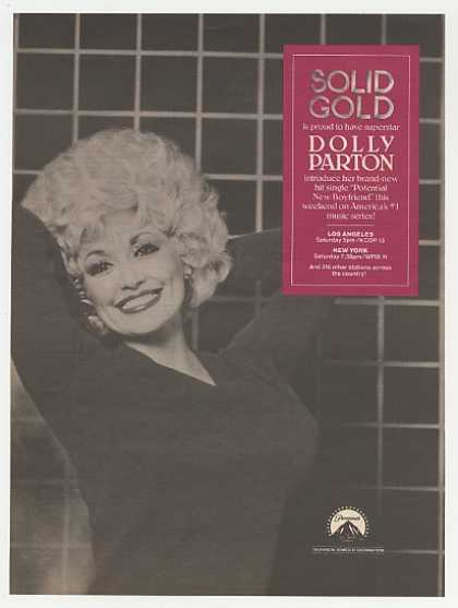 Dolly Parton Solid Gold TV Music Program Photo (1983)