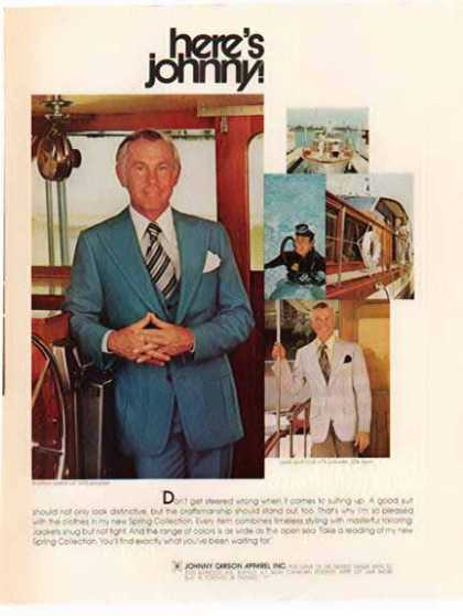 Johnny Carson Apparel – Johnny Carson – Sold (1976)