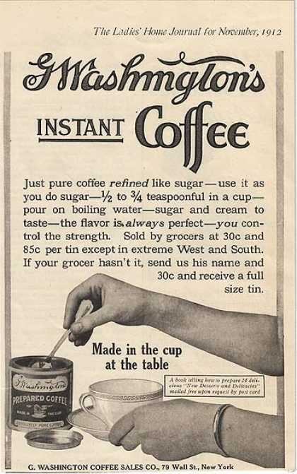 G Washington's Instant Coffee (1912)