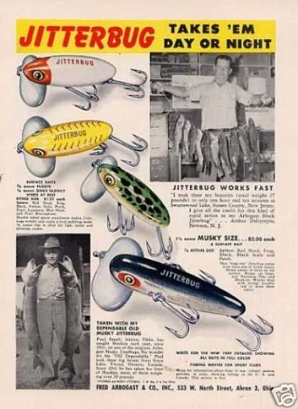 Fred Arbogast Jitterbug Fishing Lures (1949)