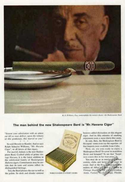 Shakespeare Bard Cigars Ralph Schuyler Williams (1964)