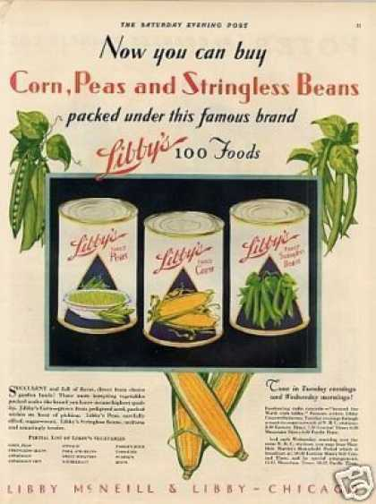 Libby's Vegetables Color (1930)