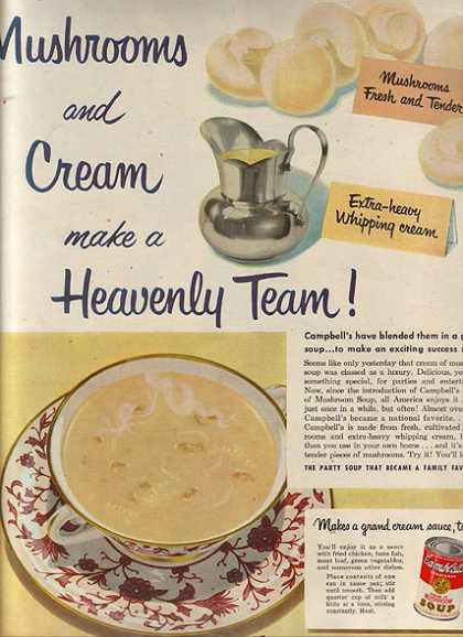 Campbell's Cream of Mushroom Soup (1951)