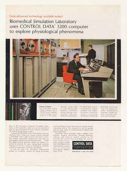 Biomedical Sim Lab Control Data 3200 Computer (1964)