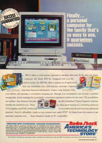 Radio Shack – Tandy 1000 RL Computer (1991)