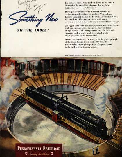 Pennsylvania Railroad – Something New On The Table (1945)