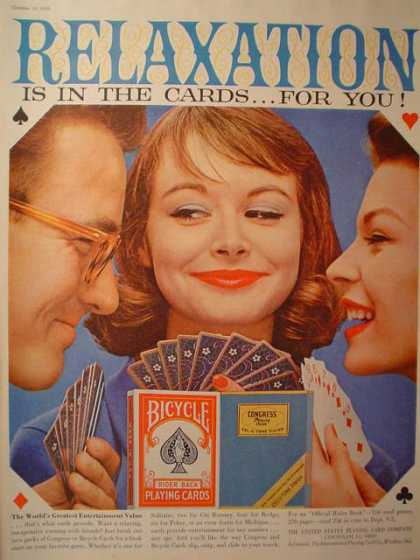 Bicycle Playing Cards Excitement in the cards (1958)
