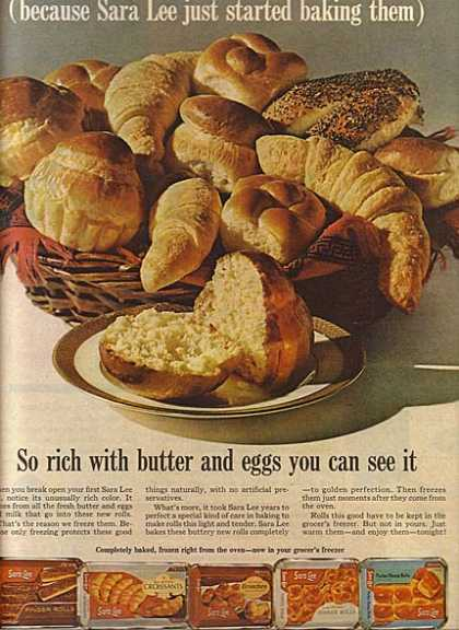 Sara Lee's Frozen Rolls and Croissants (1964)