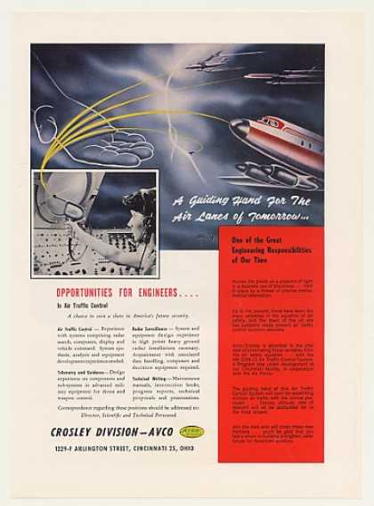 Avco Crosley Air Traffic Control Engineer Jobs (1959)
