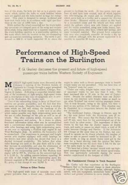 """Performance of High-speed Trains On Burlington"" (1937)"