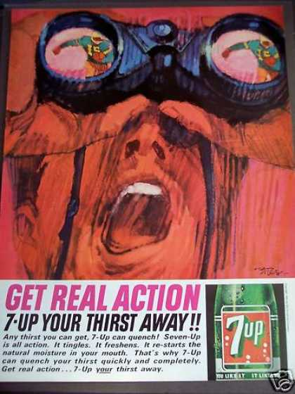 Seven-up 7-up Soda Soft Drink Art (1963)